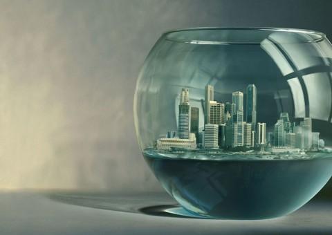 foto agua y ciudad
