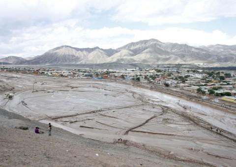 26 de marzo de 2015/COPIAPÓ   Vista de la localidad de Paipote un día después del aluvión que sufrió la ciudad y sus alrededores luego de las  fuertes lluvias  que cayeron sobre la región de Atacama. FOTO: RODRIGO SAENZ/AGENCIAUNO