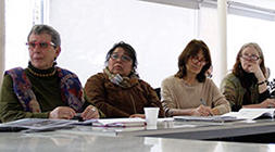 De izquierda a derecha: Ana Sungranyes, Priscila Hernández, Rossana Forray y Lake Sagaris.