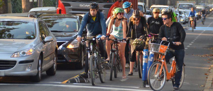 ¿Cómo son los ciclistas en Santiago?