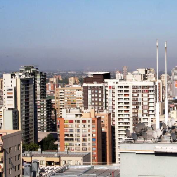 panorámica de edificios en Santiago Centro, región metropolitana, Chile